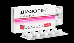 Таблетки Диазолин от псориаза